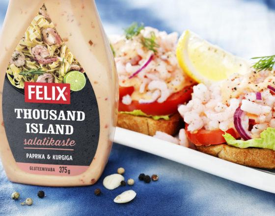 Krevetivõileib thousand island kastmega
