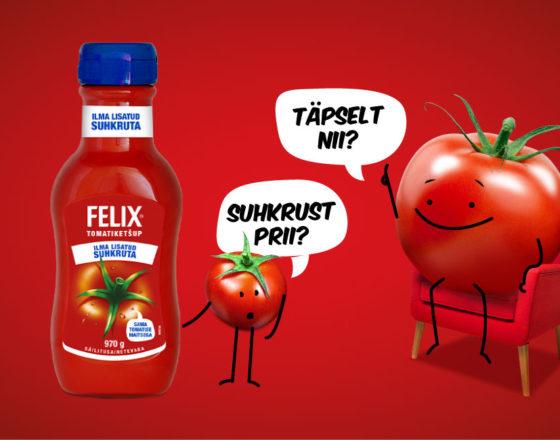 Poodidesse jõuab ainulaadne ketšup Eestis - Felix tomatiketšup ilma lisatud suhkruta